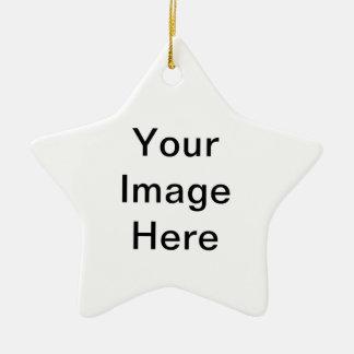 Insérez votre propre photo ornement étoile en céramique