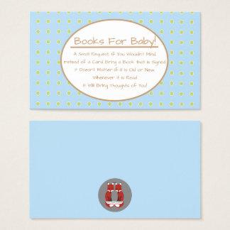 Insertion de demande de livre de baby shower cartes de visite
