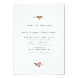 Insertion florale de mariage d'automne carton d'invitation  11,43 cm x 15,87 cm