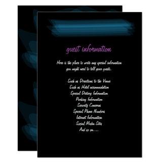 Insertion gothique rougeoyante élégante carton d'invitation  11,43 cm x 15,87 cm