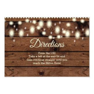 Insertion rustique de directions, épousant carton d'invitation 8,89 cm x 12,70 cm
