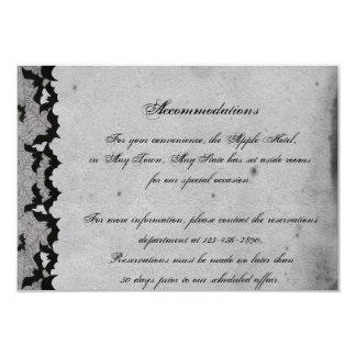 Insertion snob de mariage de dentelle gothique carton d'invitation 8,89 cm x 12,70 cm