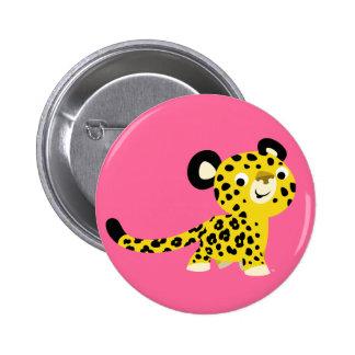 Insigne amical de bouton de léopard de bande dessi badges