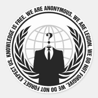 Insigne anonyme sticker rond
