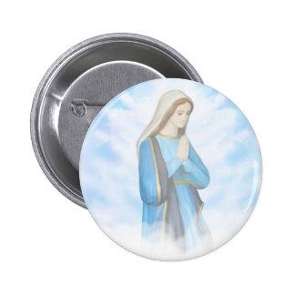 Insigne béni de Vierge Marie Badge Rond 5 Cm
