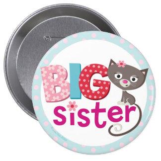 Insigne/bouton de grande soeur badge rond 10 cm