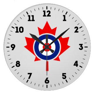 Insigne canadien de mod de rondeau de feuille grande horloge ronde