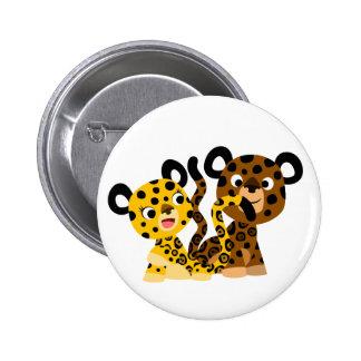 Insigne coquet mignon de bouton de jaguars de badge rond 5 cm
