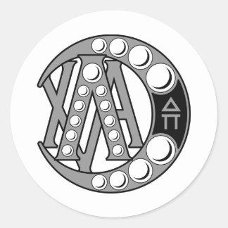 Insigne d'alpha de Chi de lambda Sticker Rond