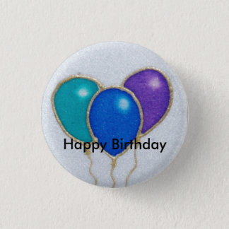 Insigne de bouton de joyeux anniversaire de ballon badges