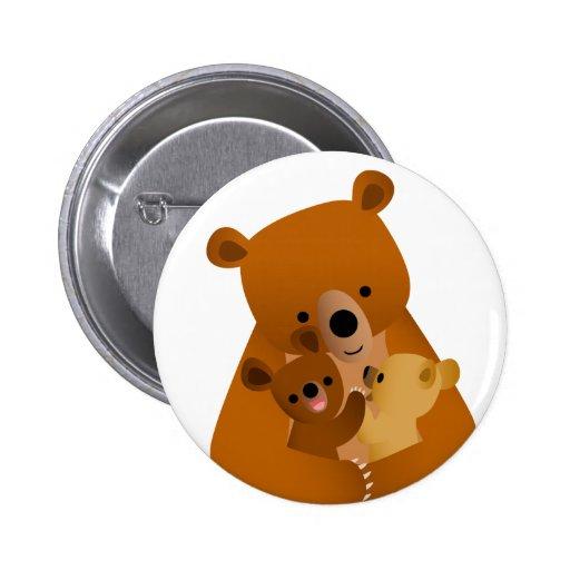Insigne de bouton de maman Bear Badge Avec Épingle