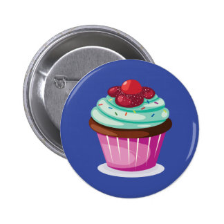 Insigne de bouton de petit gâteau de baies badge