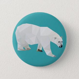 Insigne de bouton d'ours blanc badge