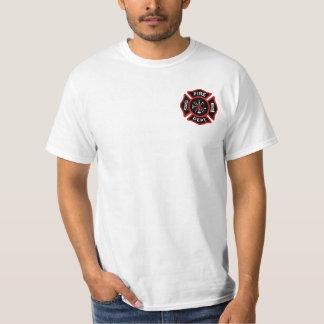Insigne de corps de sapeurs-pompiers t-shirt