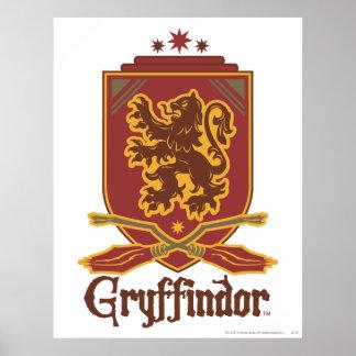 Insigne de Gryffindor Quidditch Poster