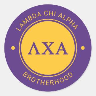 Insigne de l'alpha | de Chi de lambda Sticker Rond