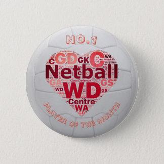 Insigne de Pin de récompense de joueur de net-ball Pin's