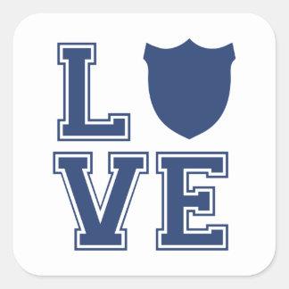 Insigne de policier - L O V E Sticker Carré