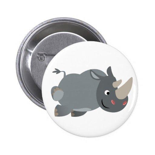 Insigne de remplissage de bouton de rhinocéros de  badge rond 5 cm