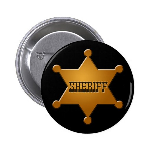 Insigne de shérif - bouton pin's