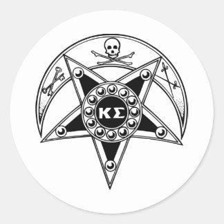 Insigne de sigma de Kappa Sticker Rond