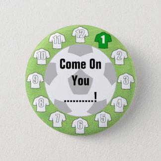 Insigne d'équipe de football avec les chemises badges