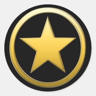 Insigne d'or d'étoile - autocollants