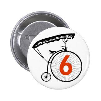 Insigne du numéro 6 - le prisonnier badges