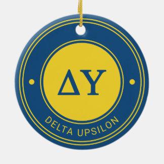 Insigne d'Upsilon | de delta Ornement Rond En Céramique