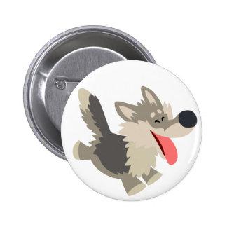 Insigne espiègle mignon de bouton de loup de bande badge avec épingle
