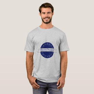 Insigne expert bleu de Napper T-shirt