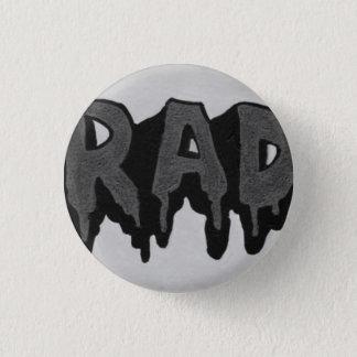 """Insigne grunge noir et blanc de """"rad"""" badges"""
