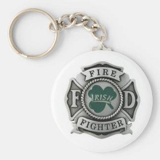 Insigne irlandais de sapeur-pompier porte-clé rond