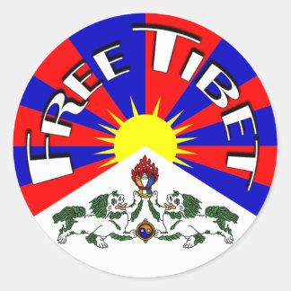 Insigne libre du Thibet Sticker Rond