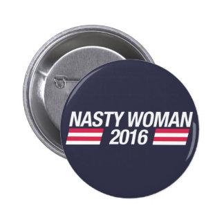 Insigne méchant de goupille de femme badge