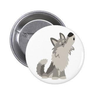 Insigne mignon de bouton de loup de bande dessinée pin's