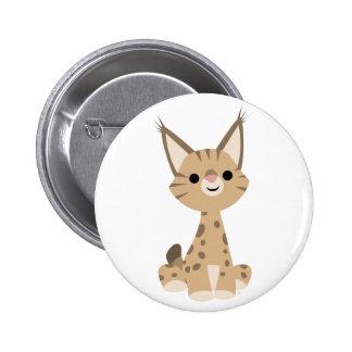 Insigne mignon de bouton de Lynx de bande dessinée Badges