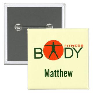 Insigne personnel de carré d'entraîneur de forme badge carré 5 cm