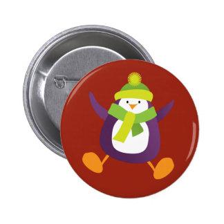 Insigne pourpre sautant mignon du bouton de pingou pin's avec agrafe