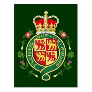 Insigne royal du Pays de Galles Carte Postale