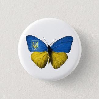 Insigne S de papillon coloré par drapeau de Tryzub Badges