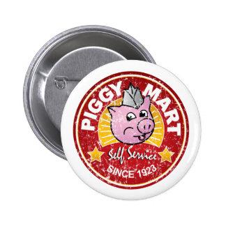 Insigne vintage des employés d'épicerie de marché  badge rond 5 cm
