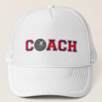 Insignes gentils de bowling d'entraîneur casquette