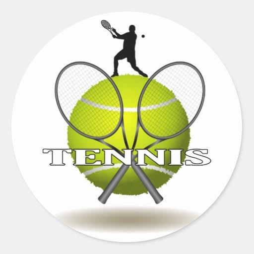 Insignes gentils de tennis adhésif rond