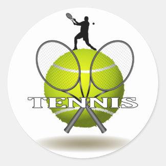 Insignes gentils de tennis sticker rond