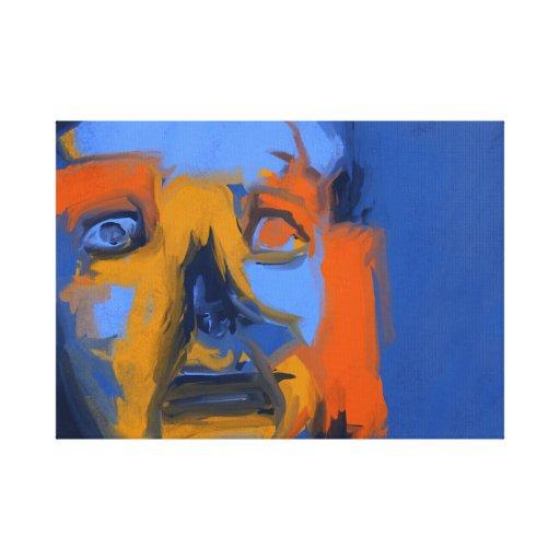 Insomniaque - toile d'art numérique moderne 18x24 toile tendue sur châssis