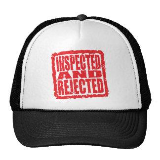 Inspecté et rejeté casquettes de camionneur