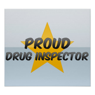 Inspecteur fier de drogue poster