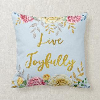 Inspiration : Or floral vivant joyeux Coussins Carrés