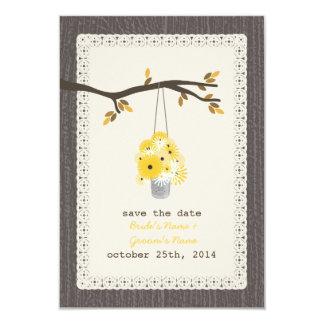 Inspired du bois peut des économies d'automne de carton d'invitation 8,89 cm x 12,70 cm